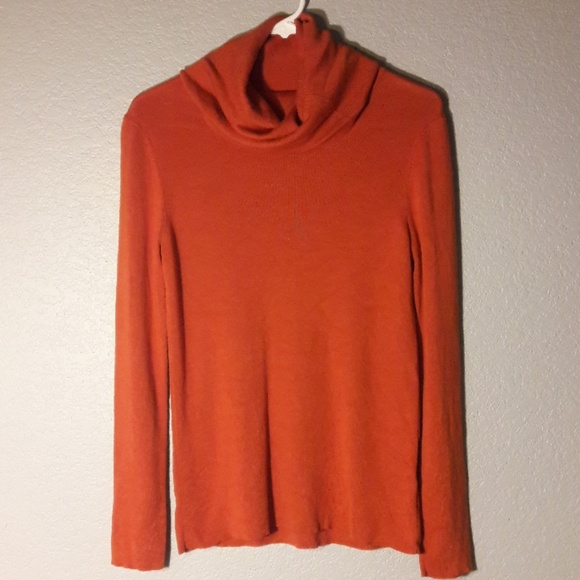 Banana Republic Sweaters Orange Cowl Neck Sweater Poshmark